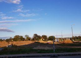 pohľad na stavebný pozemok