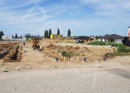 práce na ceste Gaštanová