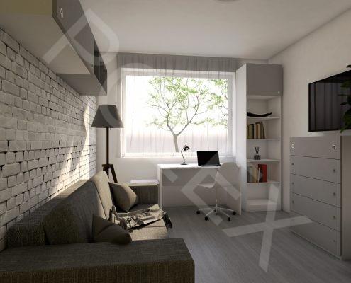 pracovňa - hosťovská izba