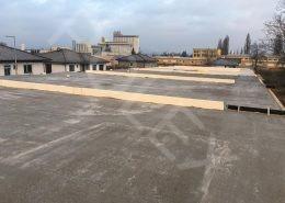 radové domy ukončené železobetónovým stropom